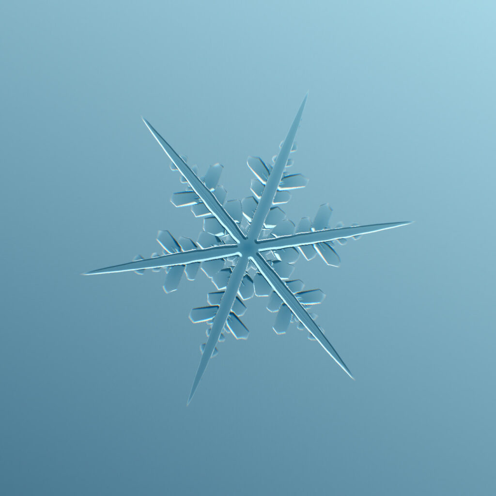 Screenshot of a snowflake
